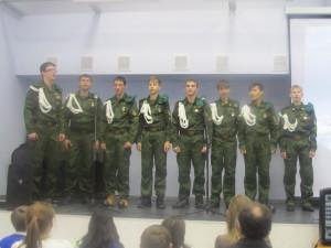 Учащиеся МКОУ Очкуровская СОШ 3 место песня We're In The Army Now